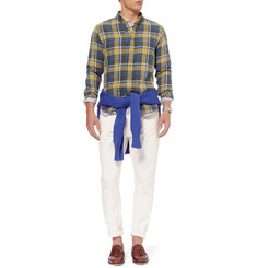 AMI Slim-Fit Check Woven-Cotton Button-Down Collar Shirt