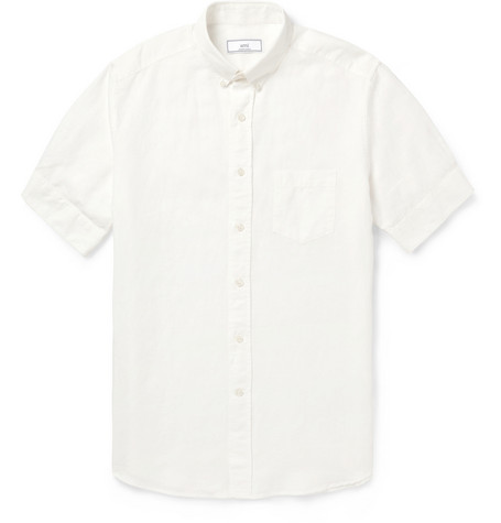 AMI Linen and Cotton-Blend Shirt