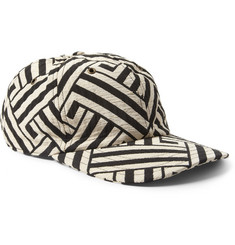 AMI Patterned Cotton and Silk-Blend Baseball Cap