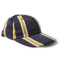 AMI Striped Wool and Cotton-Blend Baseball Cap
