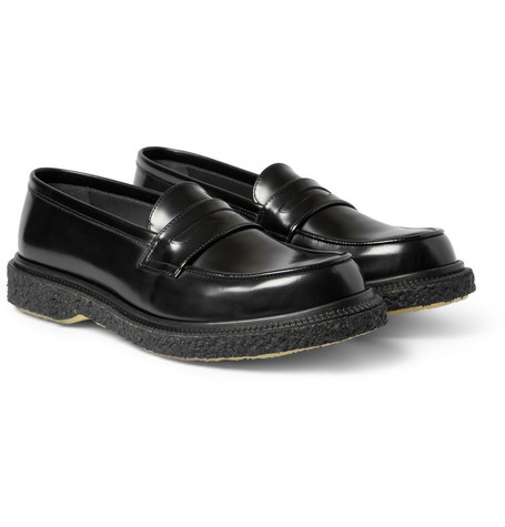 Adieu Type 5 Crepe-Sole Leather Penny Loafers