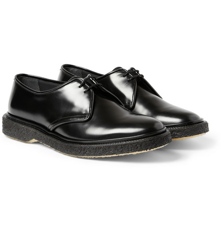 Adieu Type 1 Polished-Leather Crepe-Soled Derby Shoes