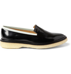 Adieu Type 7 Crepe-Soled Polished-Leather Loafers