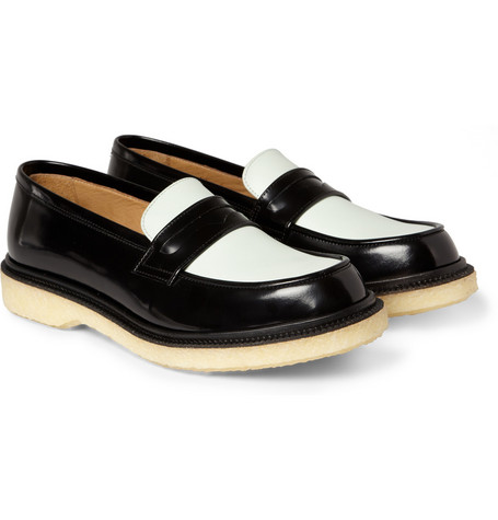 Adieu Two-Tone Crepe-Soled Penny Loafers