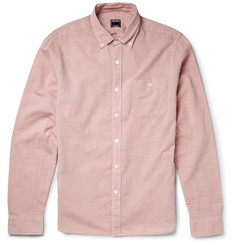 Todd Snyder Button-Down Collar Cotton-Chambray Shirt
