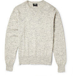 Todd Snyder Melange Cotton and Linen-Blend Sweatshirt
