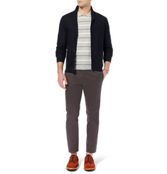 Todd Snyder Collared Striped Cotton and Cashmere-Blend Sweater