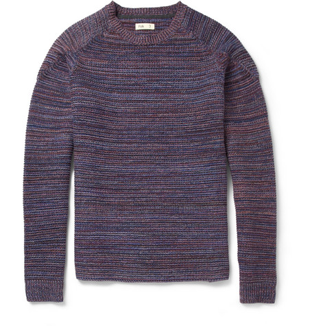 Folk Flecked Knitted Cotton Sweater
