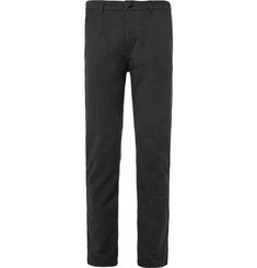 Folk Slim-Fit Flecked Cotton Suit Trousers