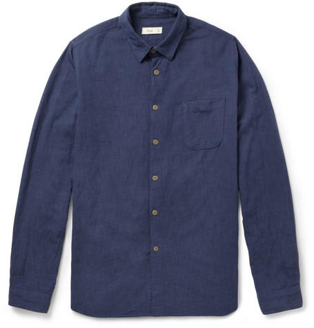 Folk Pindot Woven-Cotton Shirt