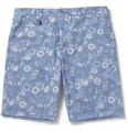 Oliver Spencer Printed Chambray Shorts