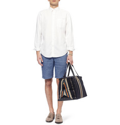 Oliver Spencer Striped Linen Shorts