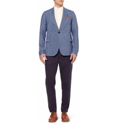Oliver Spencer Wardour Slim-Fit Unstructured Linen Blazer