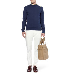 Oliver Spencer Knitted-Cotton Crew Neck Sweater