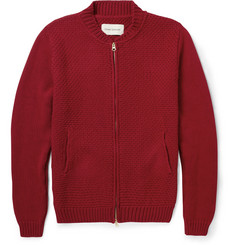 Oliver Spencer Chunky-Knit Cotton Zipped Cardigan