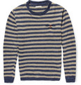 Oliver Spencer Tommy Striped Linen and Cotton-Blend Sweater