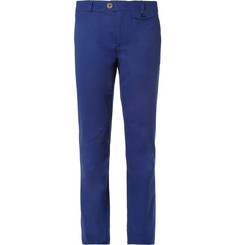 Oliver Spencer Tapered Cotton-Twill Trousers