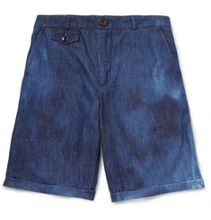 Oliver Spencer Slim-Fit Bleached-Denim Shorts