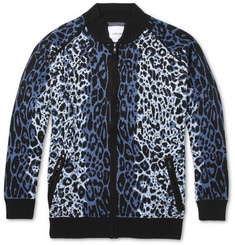 Sibling Leopard-Patterned Knitted Cardigan