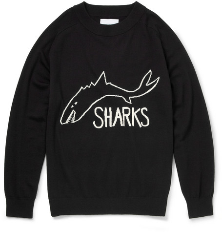 Sibling The Sharks Intarsia Wool Sweater