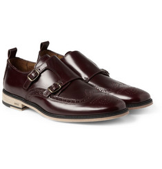AMI Leather Double Monk-Strap Brogues
