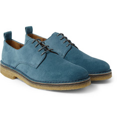 AMI Crepe-Soled Suede Derby Shoes