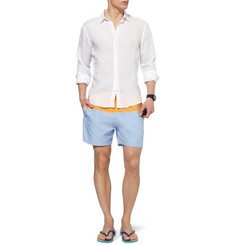 Faconnable Mid-Length Cotton-Blend Swim Shorts
