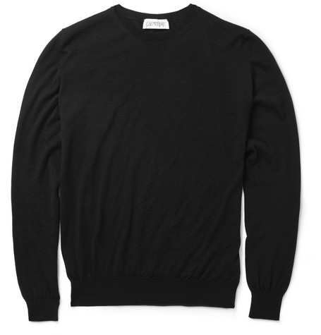 Exemplaire Fine-Knit Cashmere and Silk-Blend Sweater