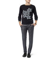 J.W.Anderson Flower-Patterned Cotton and Cashmere-Blend Sweater