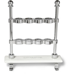 Czech & Speake Chrome and China Toothbrush Stand
