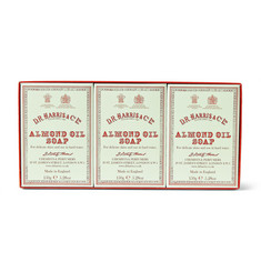 D R Harris Three-Pack Almond Oil Soaps, 3 x 150g
