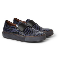 Acne Studios Hans Snake Glazed Elaphe Slip-On Sneakers