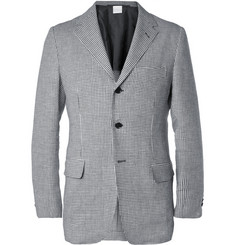 MP di Massimo Piombo Unstructured Houndstooth Check Linen Blazer