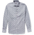 MP Massimo Piombo - Slim-Fit Printed Cotton Shirt