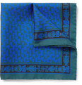 MP Massimo Piombo - Printed Silk Pocket Square