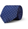 Drake's Dotted Woven-Silk Tie