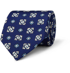 Drake's Patterned Silk Tie
