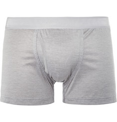 Zimmerli Fine-Stripe Mercerised Cotton Boxer Briefs