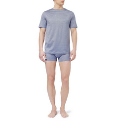 Zimmerli Fine-Stripe Mercerised Cotton T-Shirt