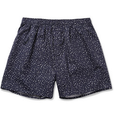 Sunspel Star-Print Cotton Boxer Shorts