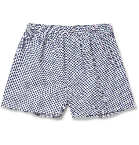Sunspel Flower-Print Cotton Boxer Shorts