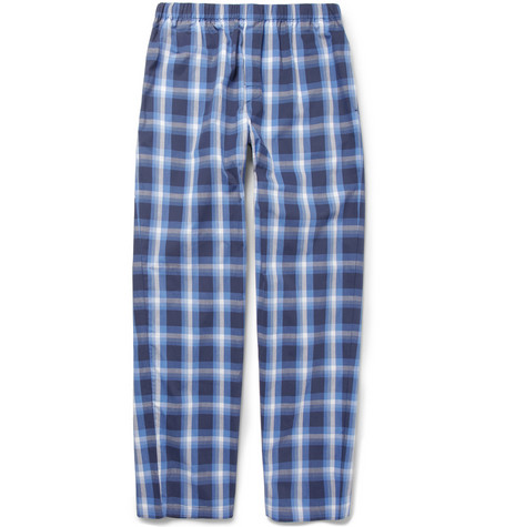 Sunspel Check Brushed-Cotton Pyjama Trousers
