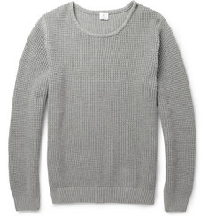 Sunspel Waffle-Knit Cotton Sweater