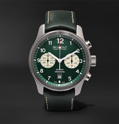 Bremont ALT1-Classic/GN 43mm Stainless Steel and Leather Automatic Chronograph Watch