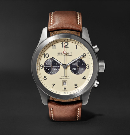 Bremont ALT1-Classic/CR Automatic Chronograph 43mm Stainless Steel and Leather Watch, Ref. No. ALT1-C/CR