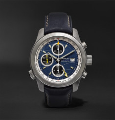 Bremont ALT1-WT/BL World Timer 43mm Stainless Steel and Leather Automatic Chronograph Watch