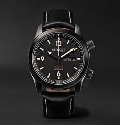 Bremont U-2/DLC 43mm Stainless Steel and Leather Automatic Watch