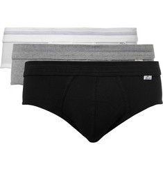 Schiesser Three-Pack Cotton-Jersey Briefs