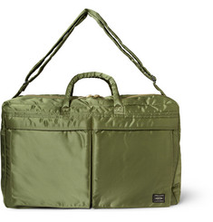 Porter Yoshida Kaban Tanker Quilted Satin-Canvas Holdall Bag