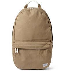 Porter Yoshida Kaban Beat Leather-Trimmed Cotton-Canvas Backpack